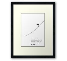 STEP WITH GREAT CARE - DR. SEUSS, LITERARY POSTER, WALL DECOR, QUOTES, ILLUSTRATION Framed Print
