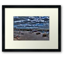 Bridlington Harbour at Low Tide Framed Print