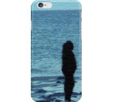 Beachy Blue Silhouette iPhone Case/Skin