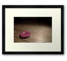 Red Button Framed Print