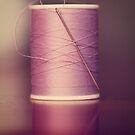 Thread - Light Purple Spool of Sewing Thread by ameliakayphotog