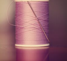 Thread - Light Purple Spool of Sewing Thread by ameliakayphotog