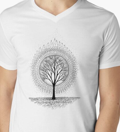 Aura Botanica 2 Mens V-Neck T-Shirt