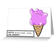 Ditto Evolves Greeting Card