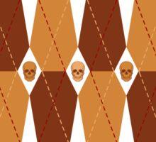 Coffin Plaid Sticker