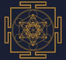 Yantra metatrons cube merkaba sacred geometry geek funny nerd by katabudi