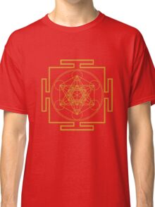 Yantra metatrons cube merkaba sacred geometry geek funny nerd Classic T-Shirt