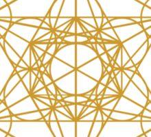 Yantra metatrons cube merkaba sacred geometry geek funny nerd Sticker