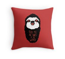 Evil Sloth Throw Pillow