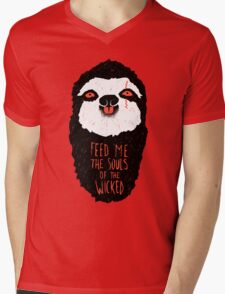 Evil Sloth Mens V-Neck T-Shirt
