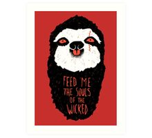 Evil Sloth Art Print