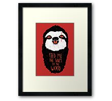 Evil Sloth Framed Print