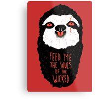 Evil Sloth Metal Print