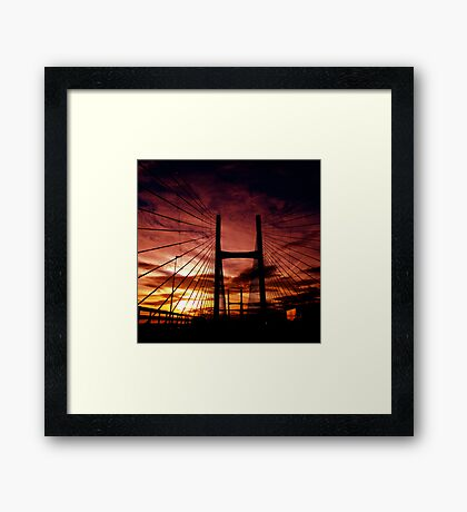 The Road To Swansea Framed Print