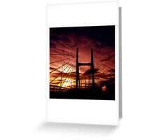 The Road To Swansea Greeting Card