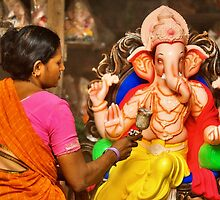Making of the Ganesh idols #2 by Prasad