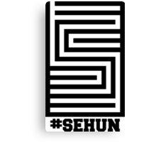 EXO Sehun 'Overdose' Logo Canvas Print