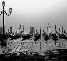 Gondolas, Venezia by pmreed