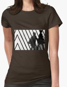 Walk the line Womens Fitted T-Shirt
