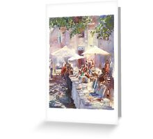 Sunshine through foliage.... in Bordeaux Greeting Card