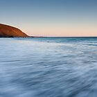 Dusk surging water, Makara Beach by Brendon Doran