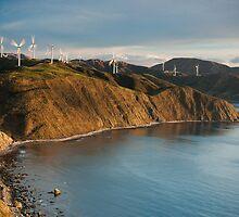 Sunset at the Makara Wind Farm by Brendon Doran