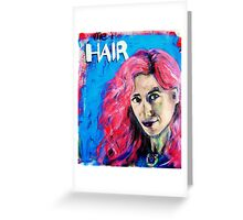 Self portrait, (with extra pink hair.) Greeting Card