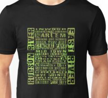 NYC Neighborhoods Green Unisex T-Shirt