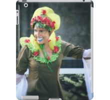 A smile is a curve that sets everything straight  iPad Case/Skin