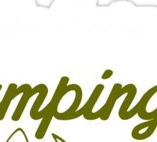 Camping Girl Sticker