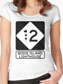 NC 12 - Bodie Island Lighthouse Women's Fitted Scoop T-Shirt