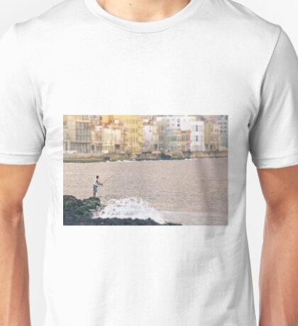 Fishing along the Malecon Unisex T-Shirt