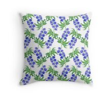 Delphinium watercolor Throw Pillow