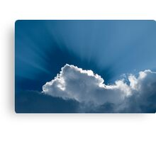 Heavenly-Clouds WIth Rays Canvas Print