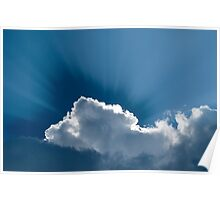 Heavenly-Clouds WIth Rays Poster