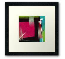 Pierce & Blur Framed Print