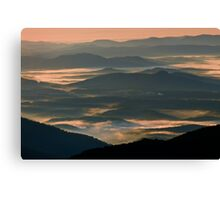 Foggy Layers-Blue Ridge Mountains Canvas Print