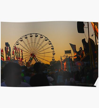 sunset on the midway Poster