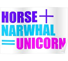Horses and Narwhals Poster