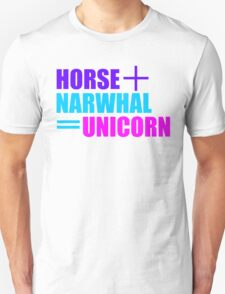 Horses and Narwhals T-Shirt