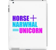 Horses and Narwhals iPad Case/Skin