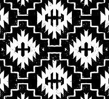Ethnic pattern with Geometric motifs by tukkki