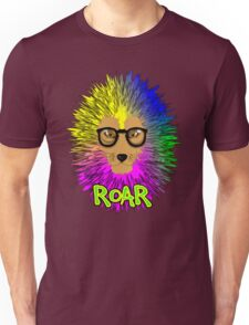 Funky Psychedelic Rainbow Bespectacled Lion ROAR Unisex T-Shirt