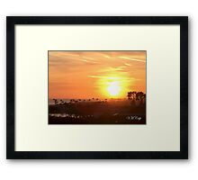 Sunset Over Balboa Pier (Newport Beach, CA, USA) Framed Print