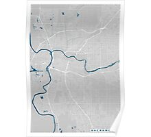 Sacramento city map grey colour Poster