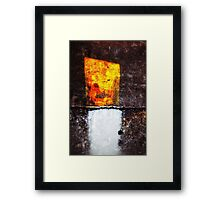Withe and Yellow floor detail Framed Print