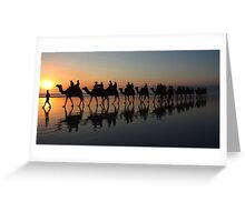 """Sunset Stroll"" Greeting Card"
