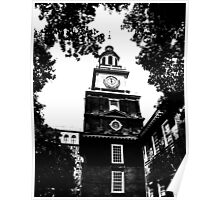 Independence Hall Blackened Poster