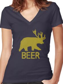 Trevor's BEER Hoodie - Episode 1 Women's Fitted V-Neck T-Shirt