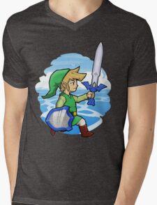 Link, The Hero of Winds || Wind Waker Mens V-Neck T-Shirt